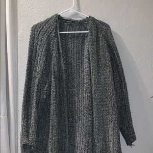 cardigan thick knit, moss green